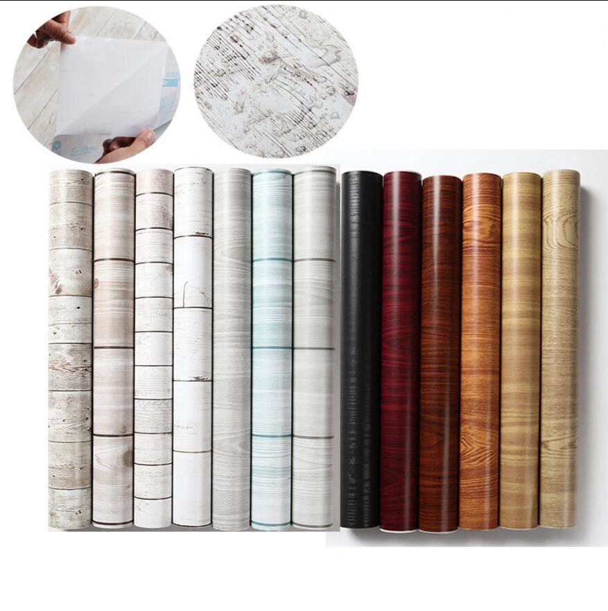 Wood Design Self Adhesive Vinyl Wallpaper 0 45 10m Furniutre Renovate Adhesive Wallpaper Vinyl Material Self Adhesive Wallpaper Wall Stickers Wood Vinyl
