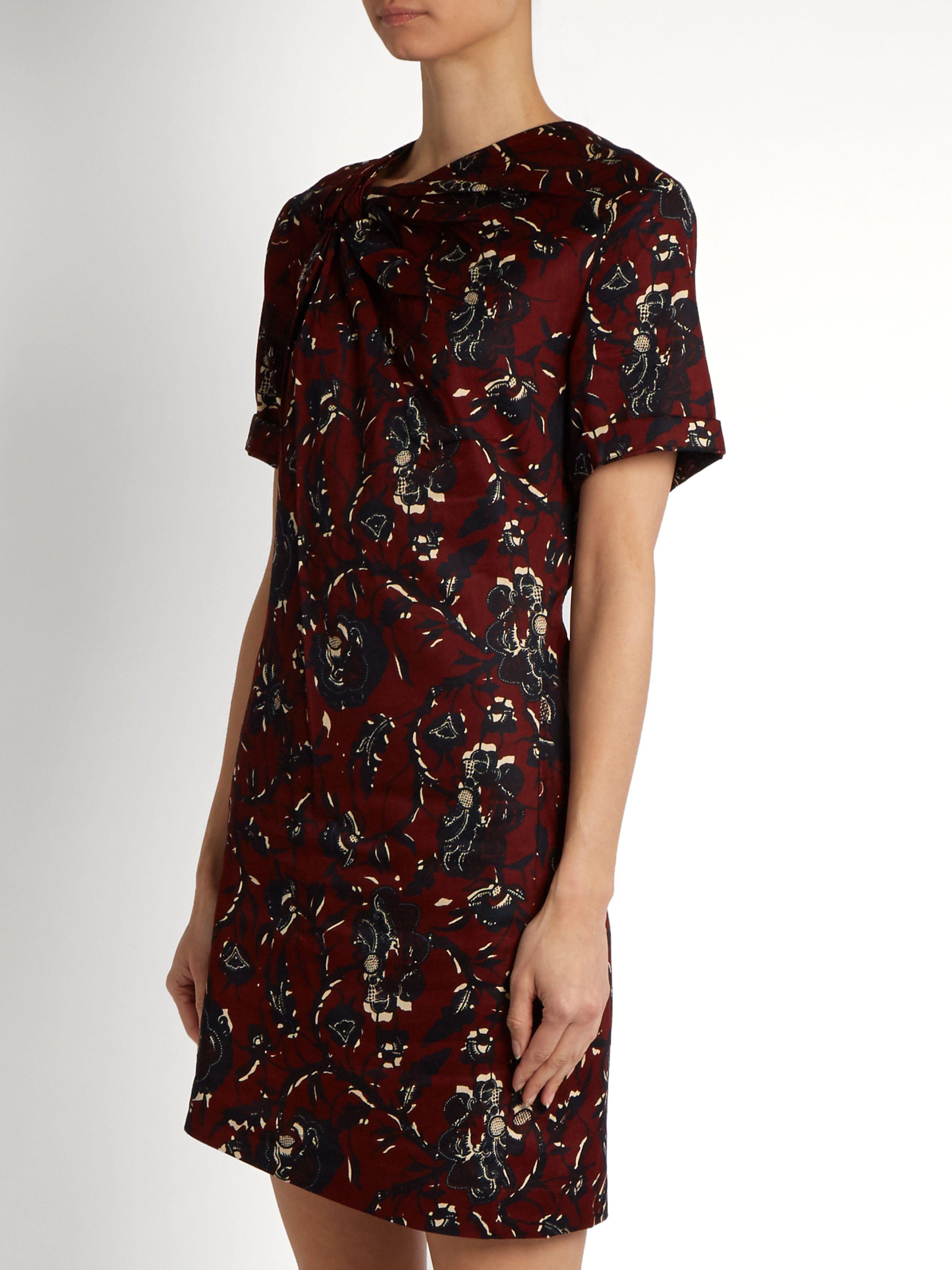 6facf9c3a7aa Jade twist-front floral-print dress   Isabel Marant Étoile    MATCHESFASHION.COM
