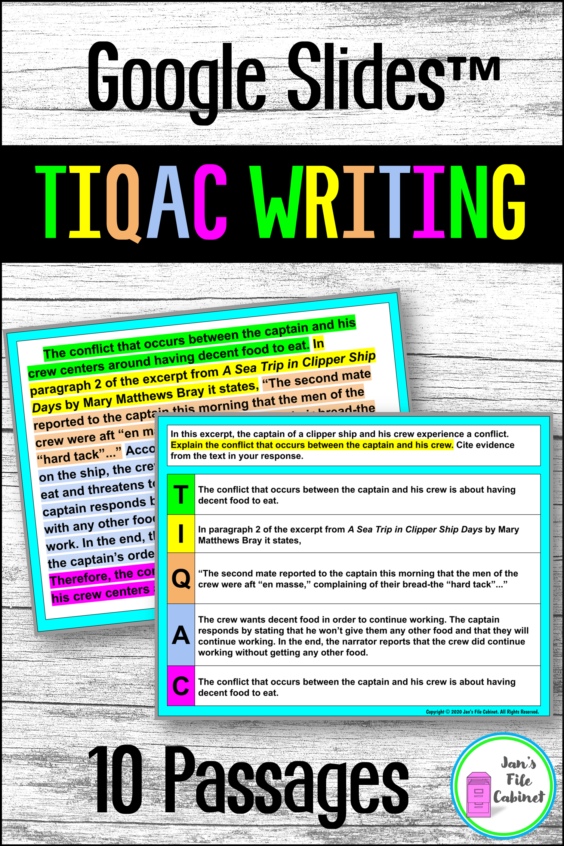 Tiqa C Writing Strategy Practice And Reading Passages Google Distance Learning Explanatory Writing Race Writing Writing Strategies