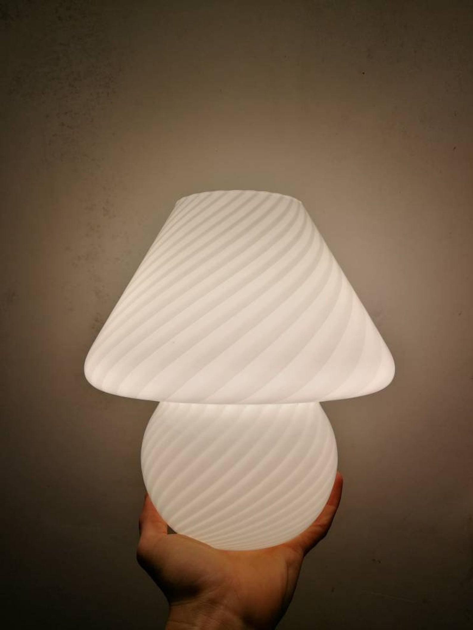 Lampada fungo murano abat jour mushroom lamp venini glass