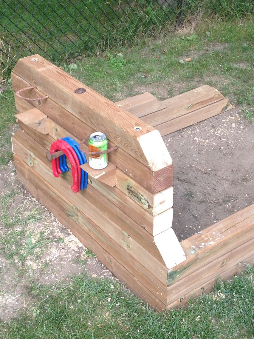 Horseshoe Pits Backyard Fun Backyard Games