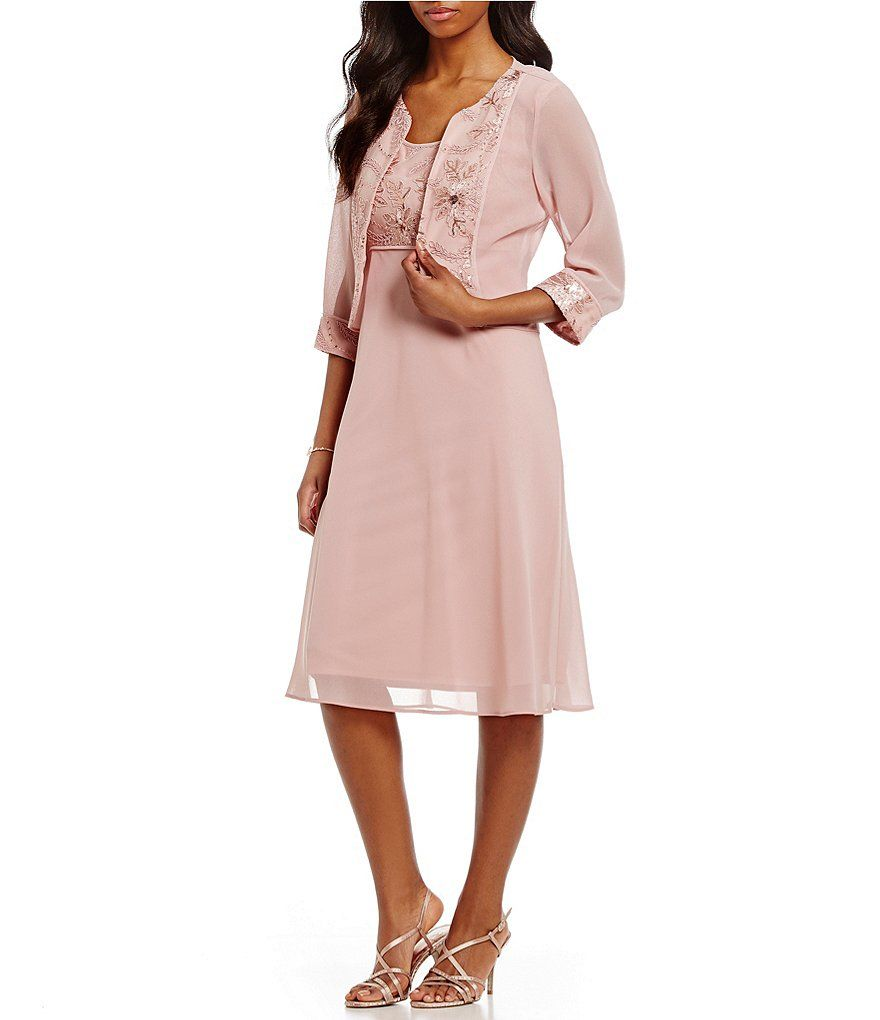 Le Bos Embroidered 2-Piece Jacket Dress | For Me | Pinterest