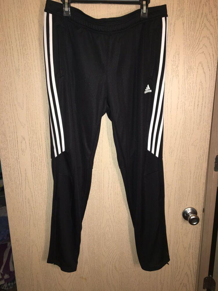 NEW Adidas Tiro 17 Men's Pants Climacool Soccer Black White