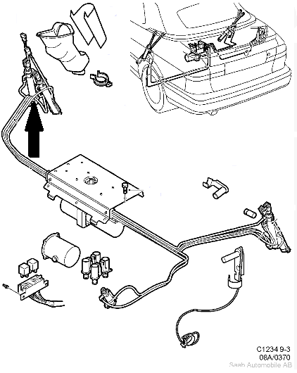 Saab 9 3 Convertible Top Diagram