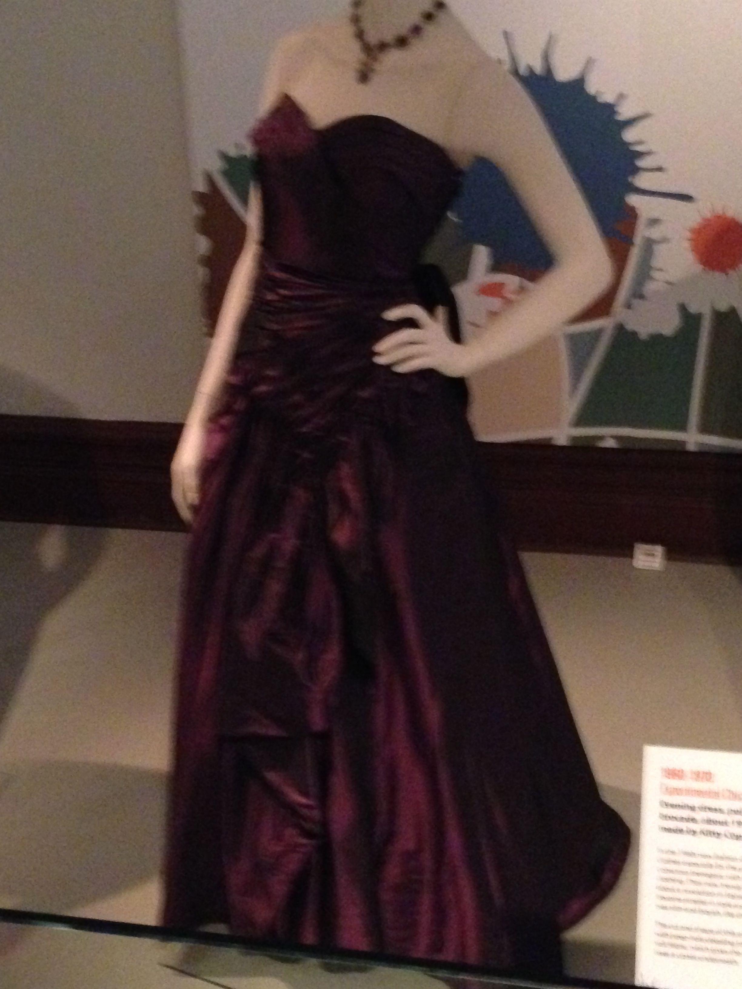 Sudley House, 1950-1960. Evening dress, rayon taffeta. Made by ...