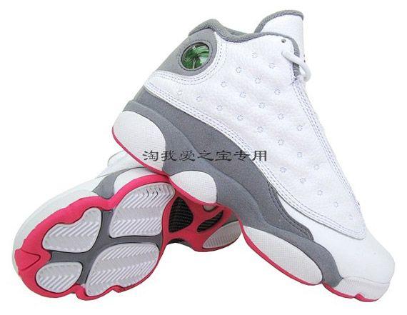 pink white grey jordans