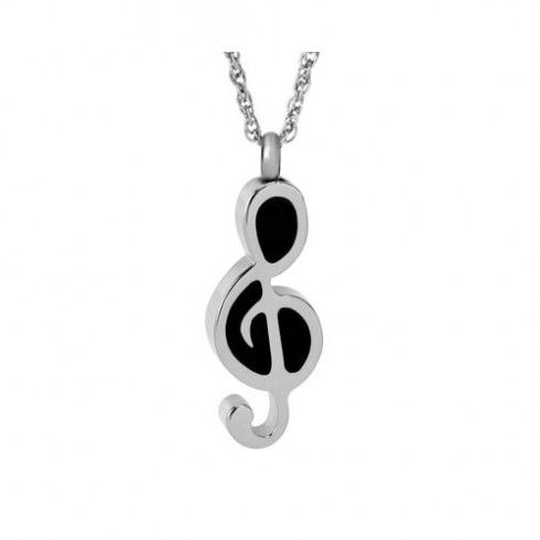 music note treble clef Cremation Keepsake bracelet Jewellery Ashes Memorial Urn
