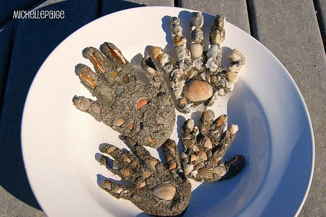Sandy Handprints I Have So Many Kids Maybe I Could Make Them Into