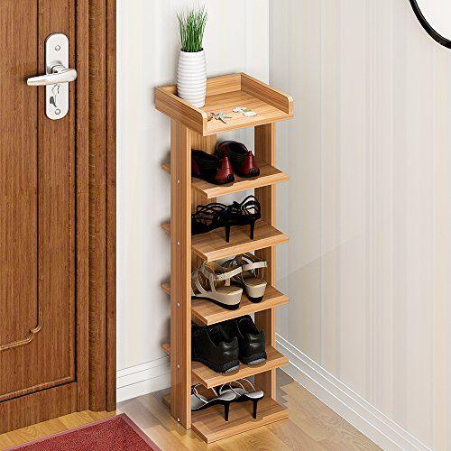 Soges Shoe Racks Solid Wood Shoe Storage Shelf Organizer Wood Shoe Storage Wooden Shoe Racks Wood Shoe Rack
