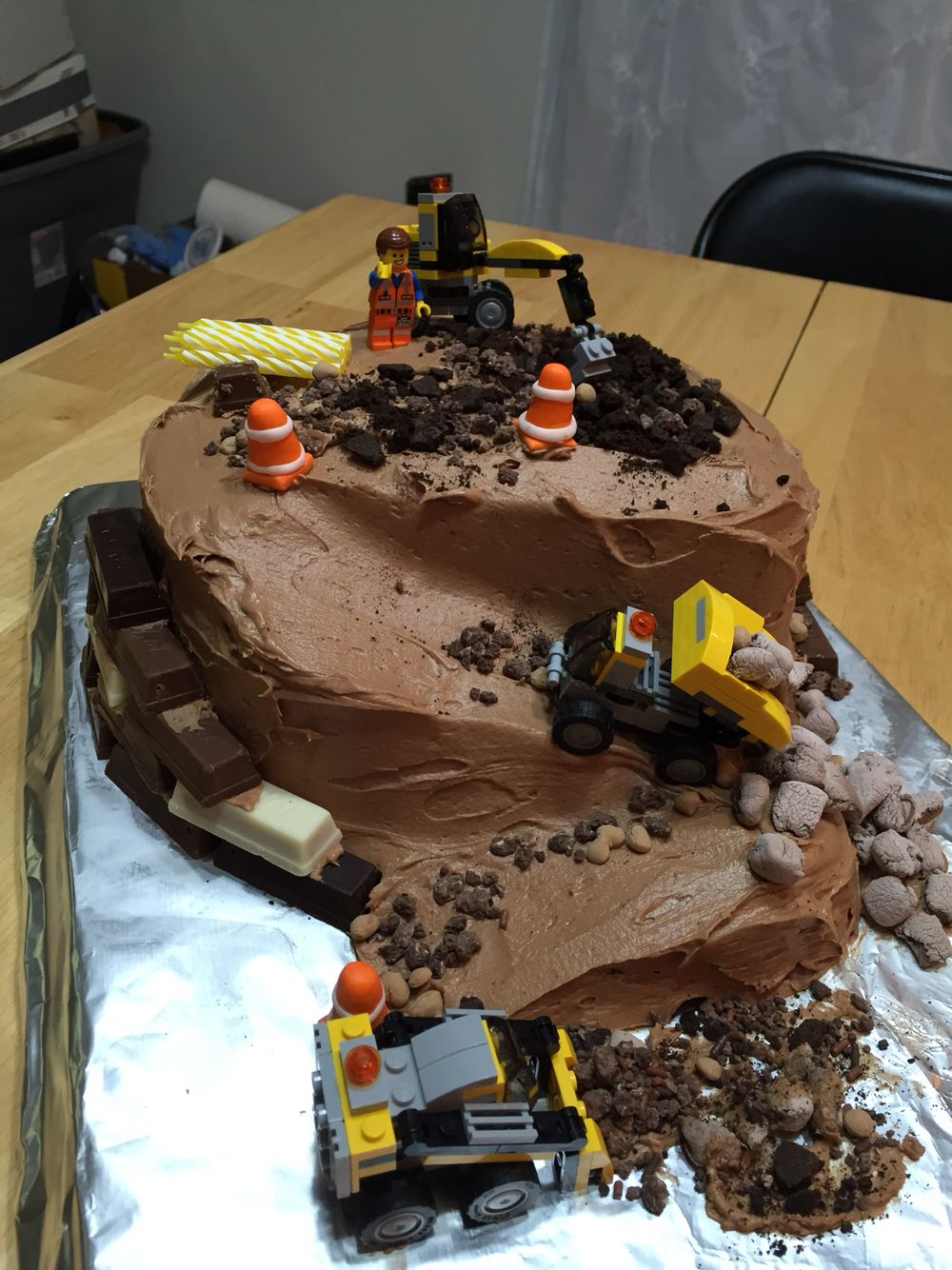 Construction Cake The Legos Were Fun And The Stack Of Construction
