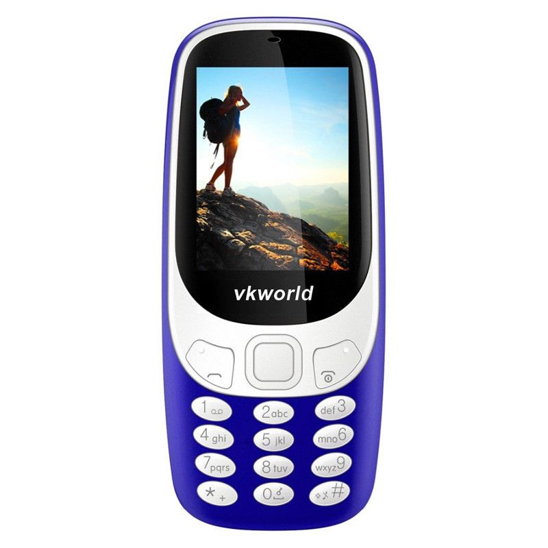 Cell Phone 2.4 Inch Display Number Pad Bluetooth Dual-IMEI 2MP Camera #VKWorldZ3310