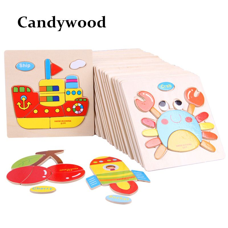 Collection Here Montessori Materials Animals Puzzle Clever Board Educational Wooden Toys For Children Cat Elephant Baby 3d Puzzles For Toddlers Home