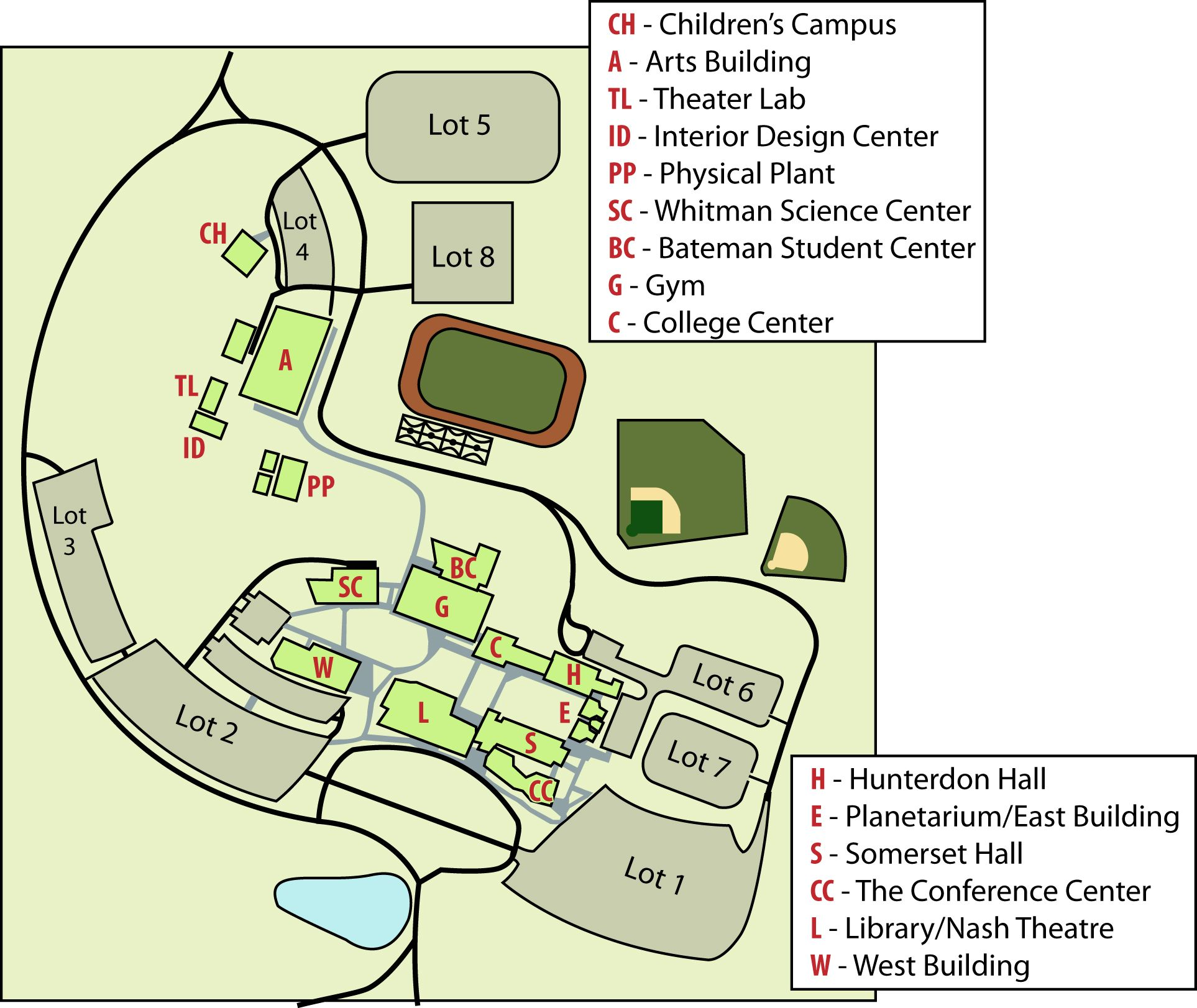 RVCC Campus Map   extra small | College for Meg | Pinterest