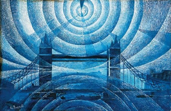 Luigi Russolo, 'Tower Bridge' 1910