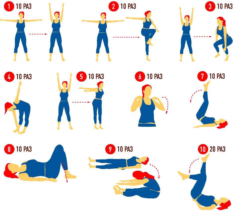 Комплекс Гимнастики При Похудении. Упражнения для быстрого похудения в домашних условиях