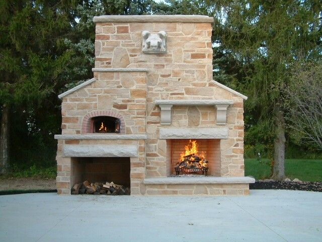 Beautiful Backyard Tuscany Fire Wood Oven Www Tuscanyfire Com Outdoor Fireplace Pizza Oven Backyard Kitchen