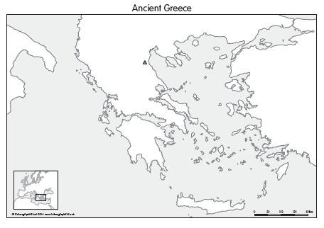 Greece Map Blank.Blank Map Of Ancient Greece Ancient Greece Map Set Of 4 099