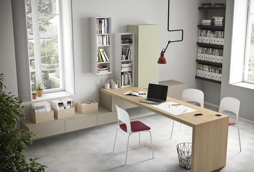 Bureau en bois contemporain pour hôtel professionnel people