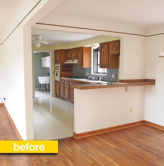 Kitchen Before After A Closed Off Kitchen Opens Up Home
