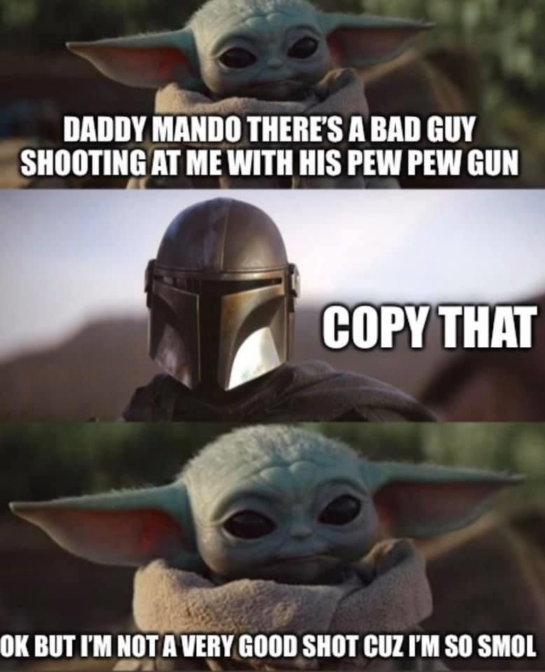 Pin By Zanga Lindsey Olah On Baby Grogu In 2020 Yoda Funny Star Wars Memes Yoda Meme