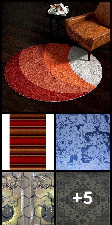 Rivet Modern Color Block Area Rug 5 X 8 Foot Round Multicolor Kitchen Dini Area