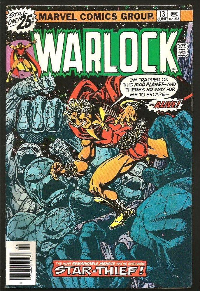 WARLOCK #13 Jim Starlin Art Marvel Comics 1st print 1976 VF- Leiahoha, Beauty
