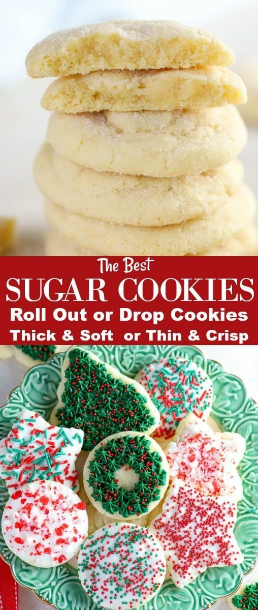 These Easy Sugar Cookies can be made as DROP COOKIES or ...