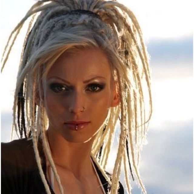 Future hairdo?  Platinum blonde (or gray since I got gray hair) and dreds...yes please