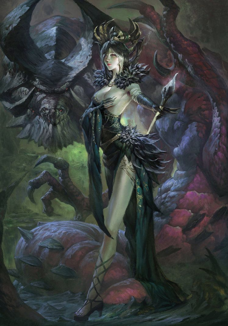 Yama By Xiaobotong On Deviantart With Images Fantasy Art Dark