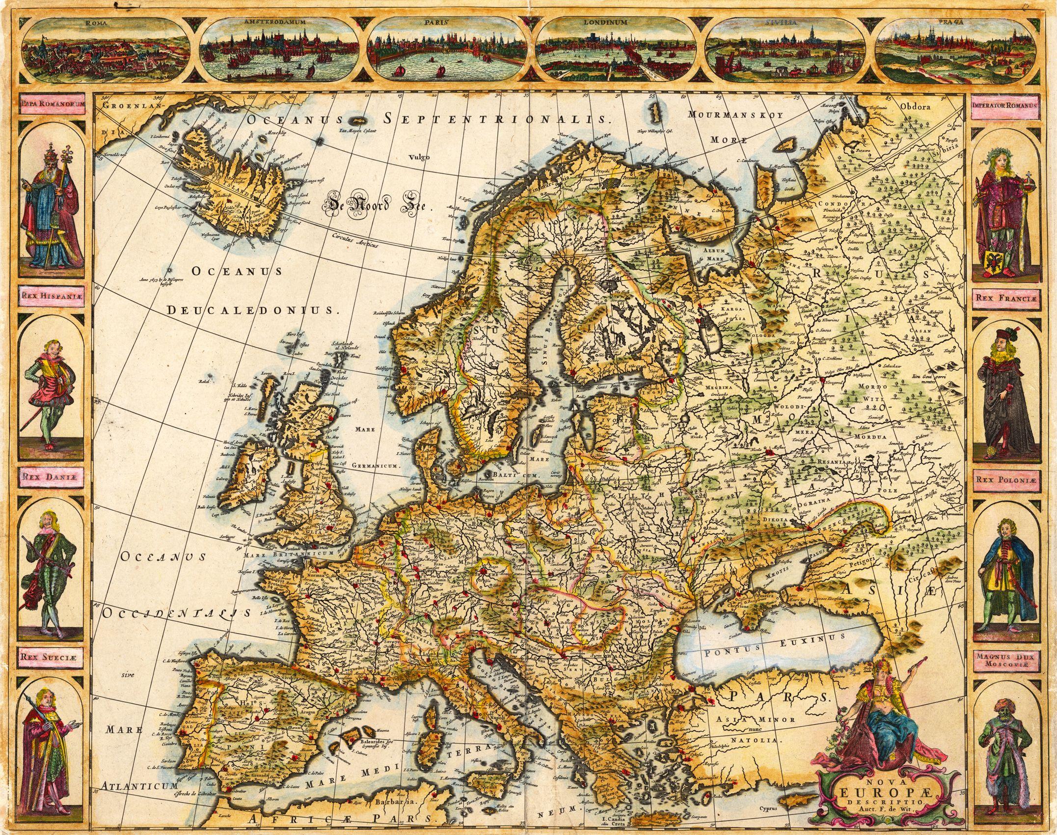 Europe De Wit Frederick Nova Europae Descriptio Auct F De Wit - Amsterdam map in europe