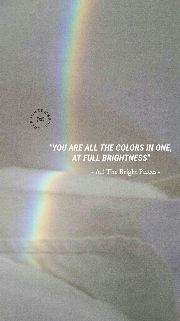Pink Quote Saying Wallpaper All The Bright Places Lockscreen Quotes In 2019