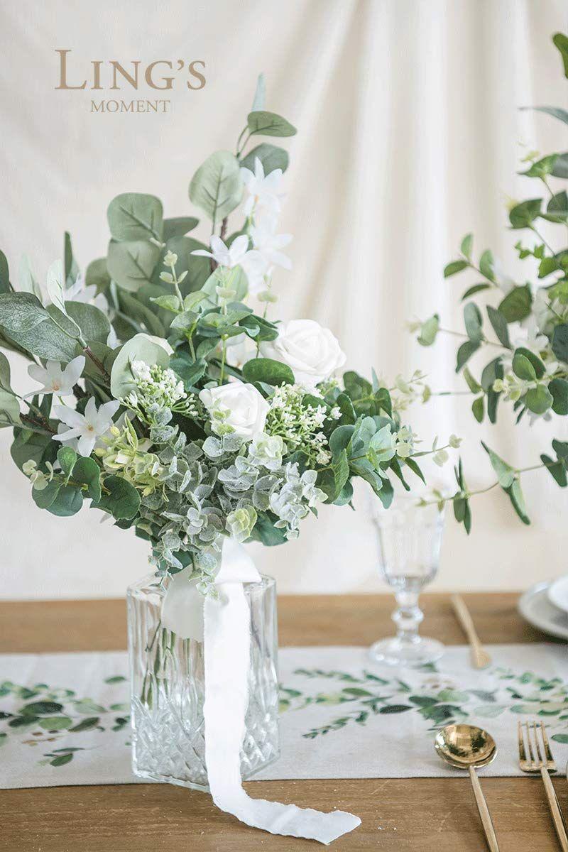 Artificial eucalyptus greenery spray box set for wedding