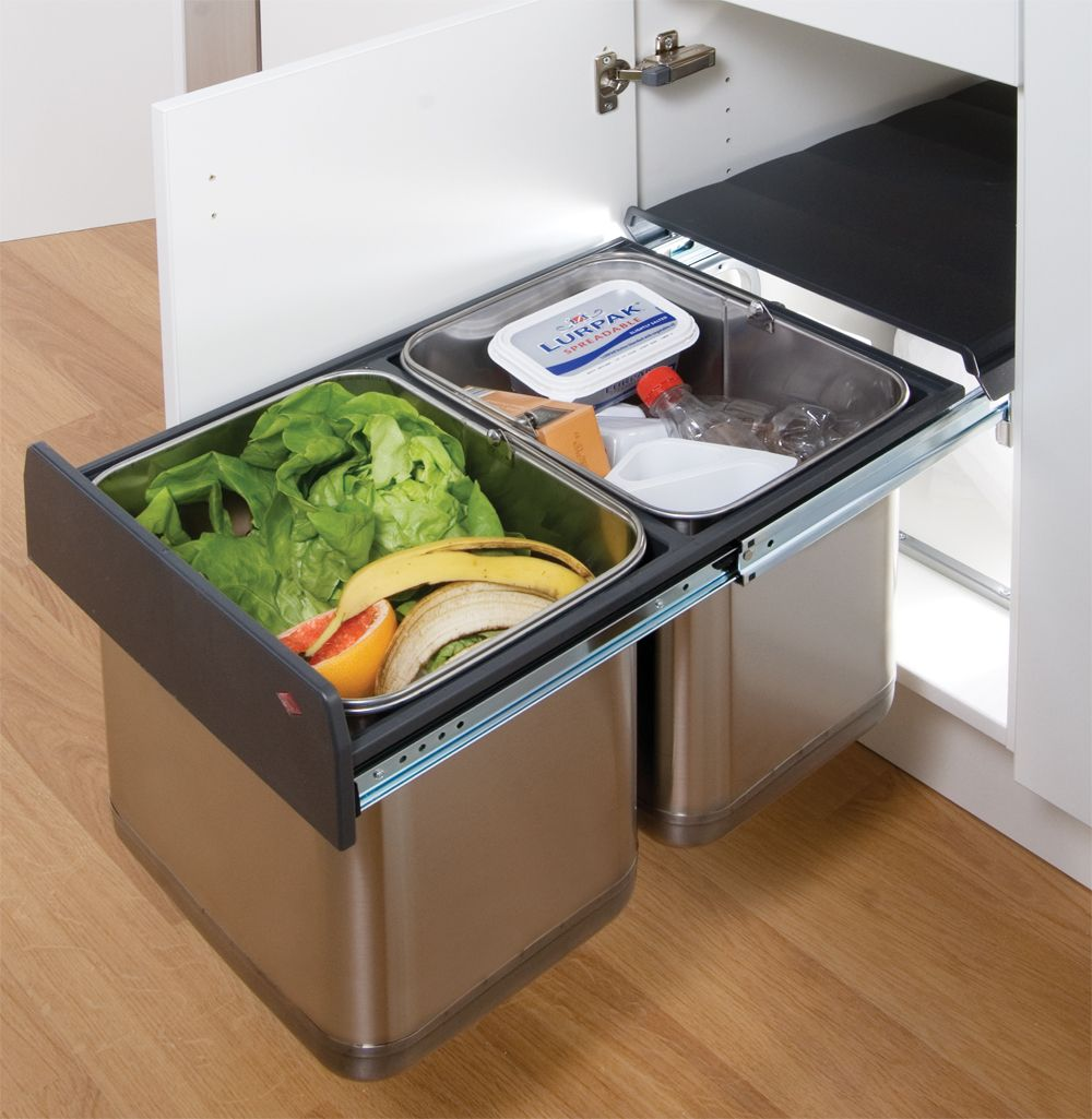 Kitchen Waste Bin Door Mounted Stainless Steel Waste Bin High Quality Stainless Steel Waste