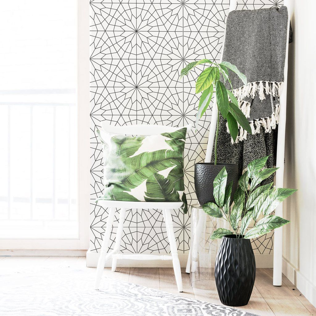 Scandi Style Geometric Wallpaper Geometric Wallpaper Living Room Wallpaper Living Room Living Room Decor Traditional