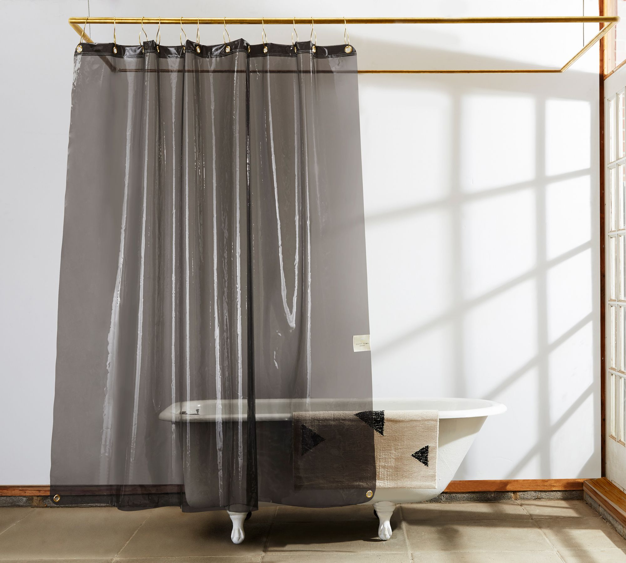 Curtain Hotel See Through Shower Curtains Sheer Fabric Shower
