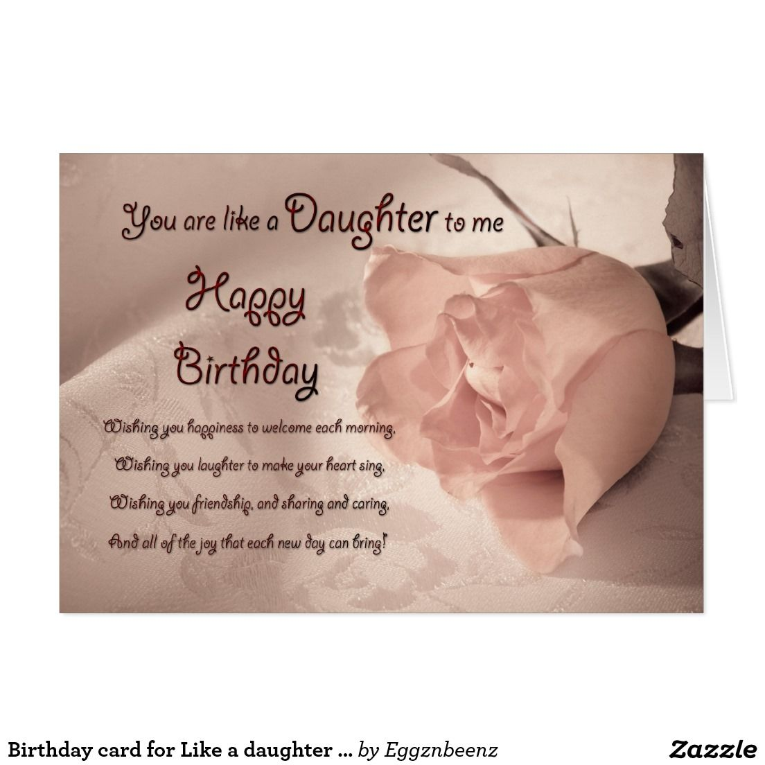 Birthday card for like a daughter to me aged quotes pinterest