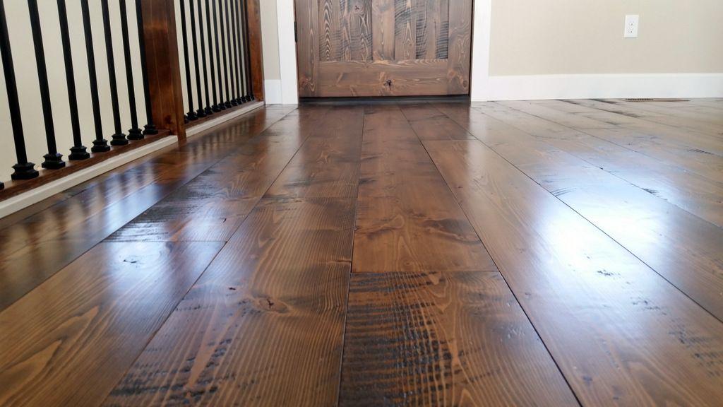 Circle Sawn Douglas Fir Flooring From Sustainable Lumber