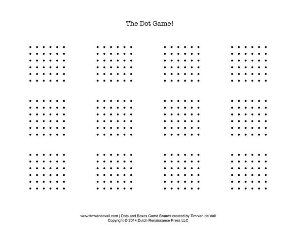 image about Dots and Boxes Game Printable identified as Dots and Containers Printable Clroom Dots, containers, Dots