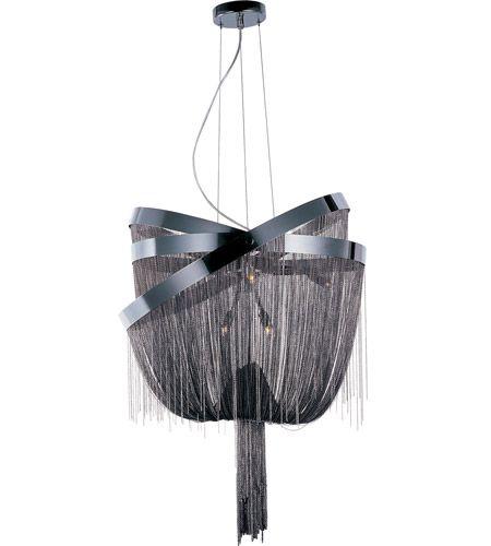 ET2 Mystic 8 Light Pendant in Black Chrome E22856-97BC #et2 #et2lighting #lightingnewyork #contemporarylighting #lighting