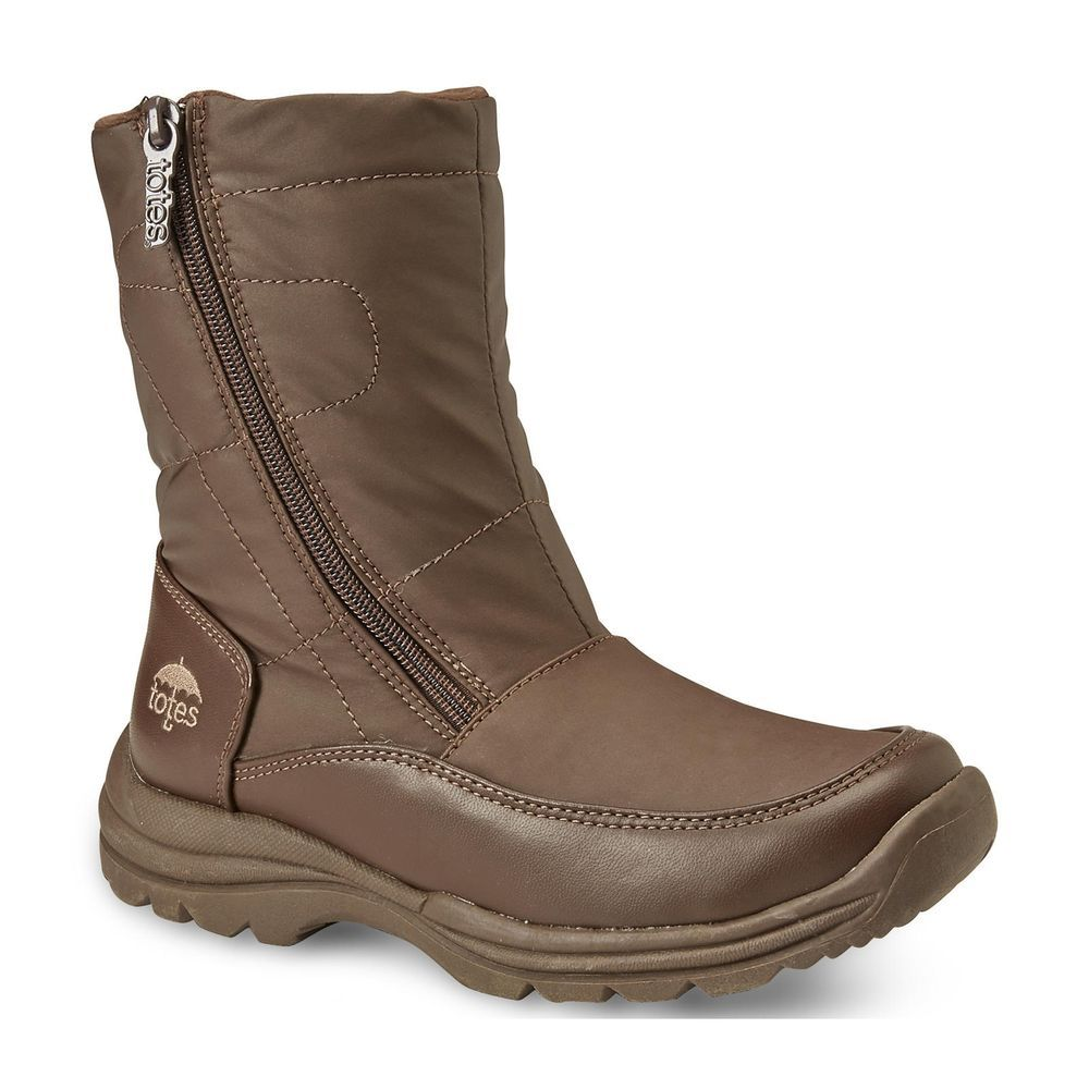 Totes Womens Winter Boot polar man made water resistant