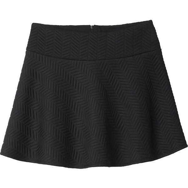 Monki Edda quilted skirt (€6) ❤ liked on Polyvore featuring skirts, bottoms, faldas, black magic, print skirt, patterned skater skirt, black circle skirt, quilted skirt and black skater skirt