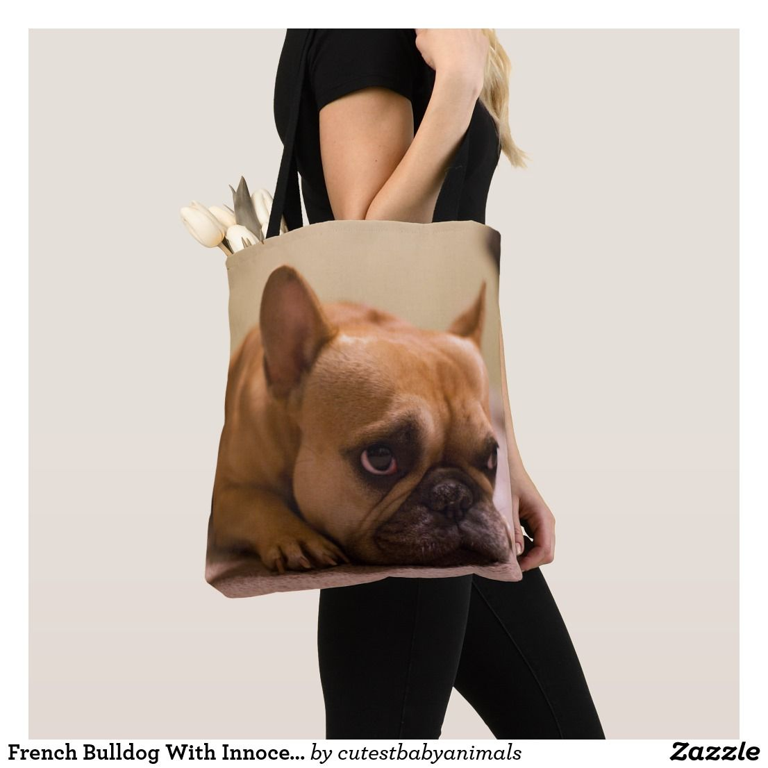Cute Dog Face Purse French Bull Dog