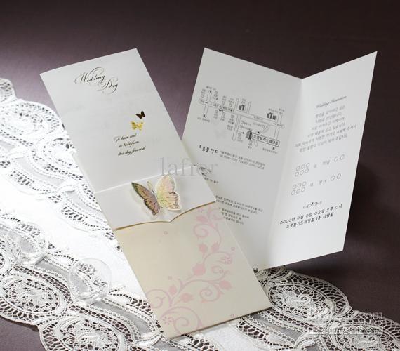 50 pcs lots elegant wedding invitations-