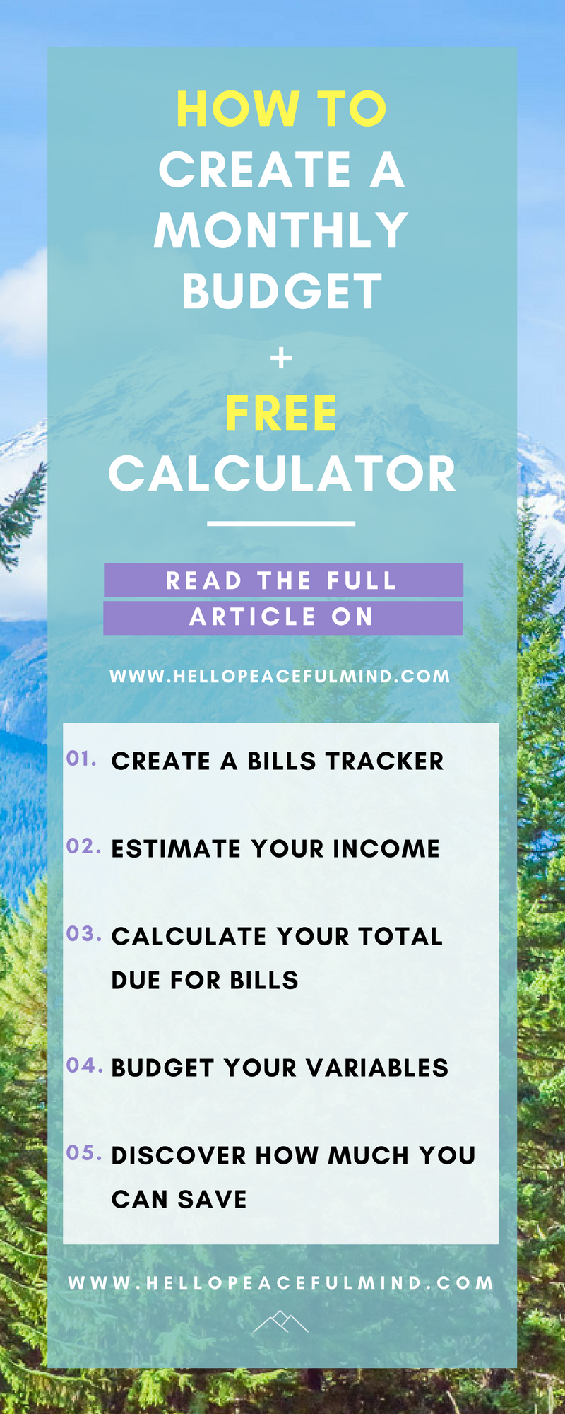 How To Create A Monthly Budget  Free Calculator  Monthly Budget