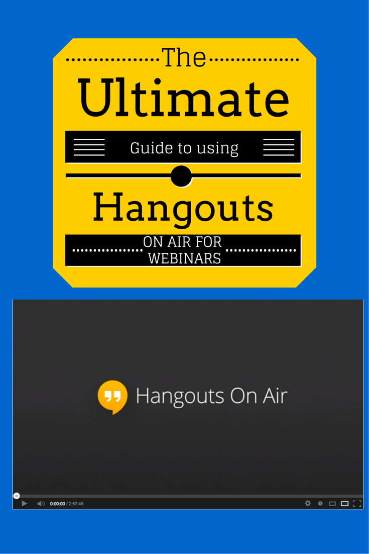 We'd love to engage with you Google hangouts, Webinar
