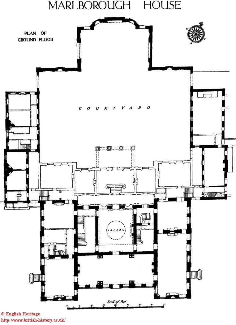 Marlborough House the residence of Edward Prince of Wales Plan – Marlborough House Floor Plan