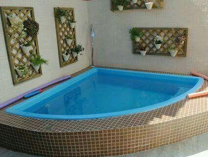 Triangular alberca pinterest albercas y piscinas for Piscinas desmontables ocasion