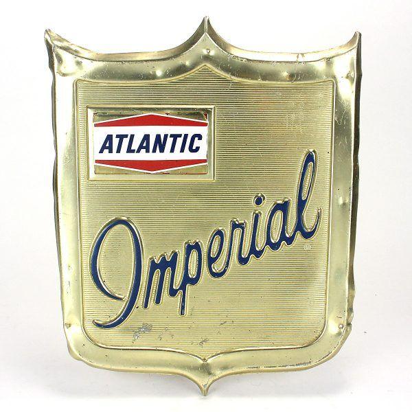 Atlantic Imperial Gas Pump Sign | Vintage Findz Items | Gas