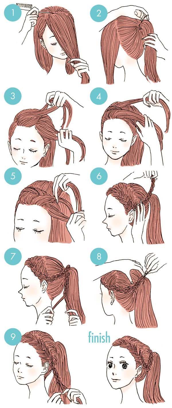 Trenzas Fáciles Para Mamás Y Niñas Pasos Para Hacer Peinados Peinados Poco Cabello Peinados Fáciles Para Cabello Corto