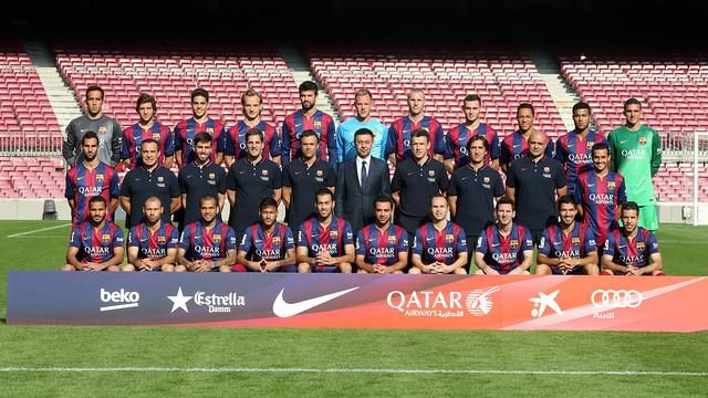 2014 - 2015 Official Barcelona  team photo was taken 29 October 2014